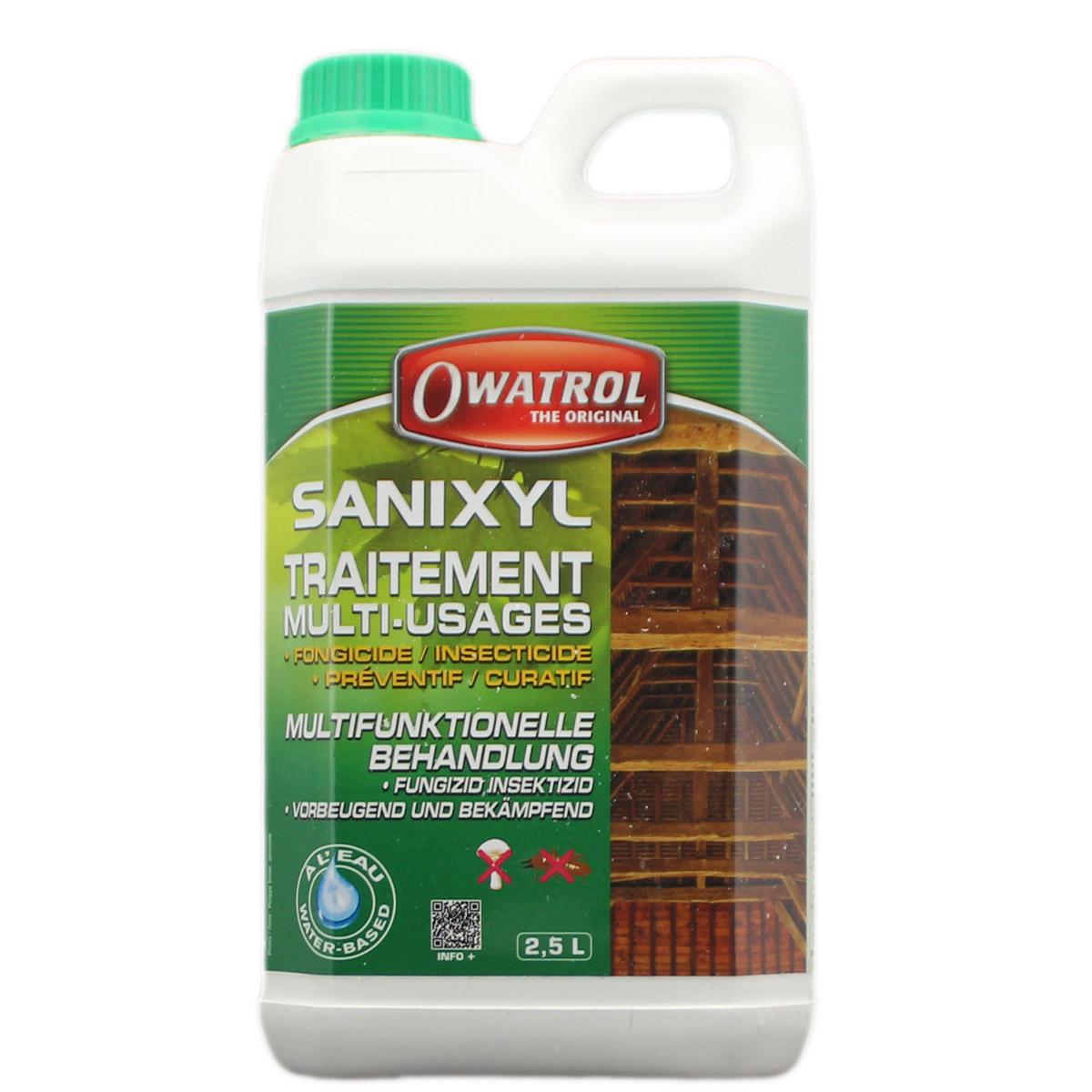 Owatrol Sanixyl 2,5L, Fungizid, Insektizid, Holzwurmtod, Bläueschutz
