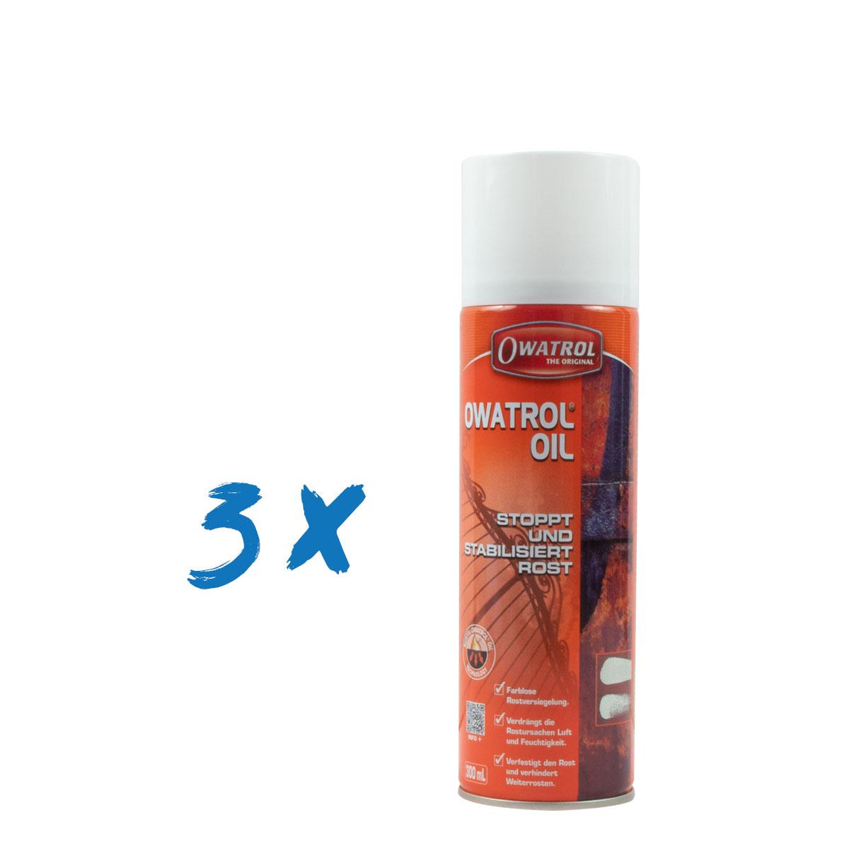 Owatrol Oel Spray 3x300ml, Mega Sparpack, Kriechöl, Rostumwandler