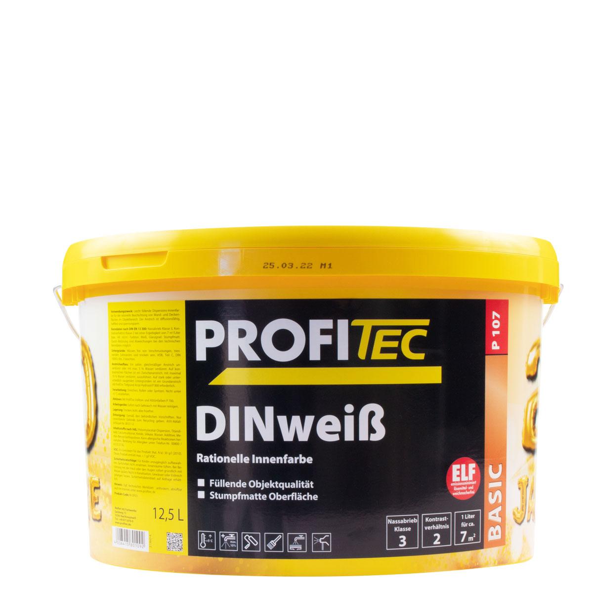 Profitec P107 DINweiß 12,5L ,stumpfmatt, rationelle Innenwandfarbe