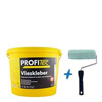 ProfiTec Vlieskleber P506 16kg, transparent + Kleisterroller (GTV)
