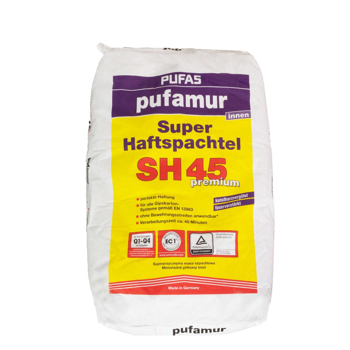 Pufas Pufamur Super-Haftspachtel SH45,versch. Größen, kunstharzvergütet, Q1-Q4