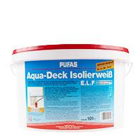 Pufas Aqua-Deck Isolierweiß E.L.F. 10l ,Nikotinfarbe
