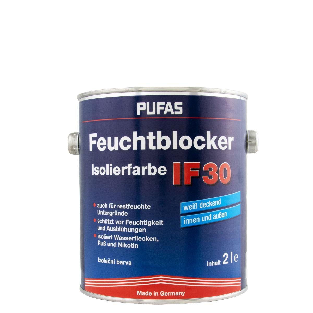 Pufas Isolierfarbe 2L weiss, Feuchtblocker, aromatenfrei
