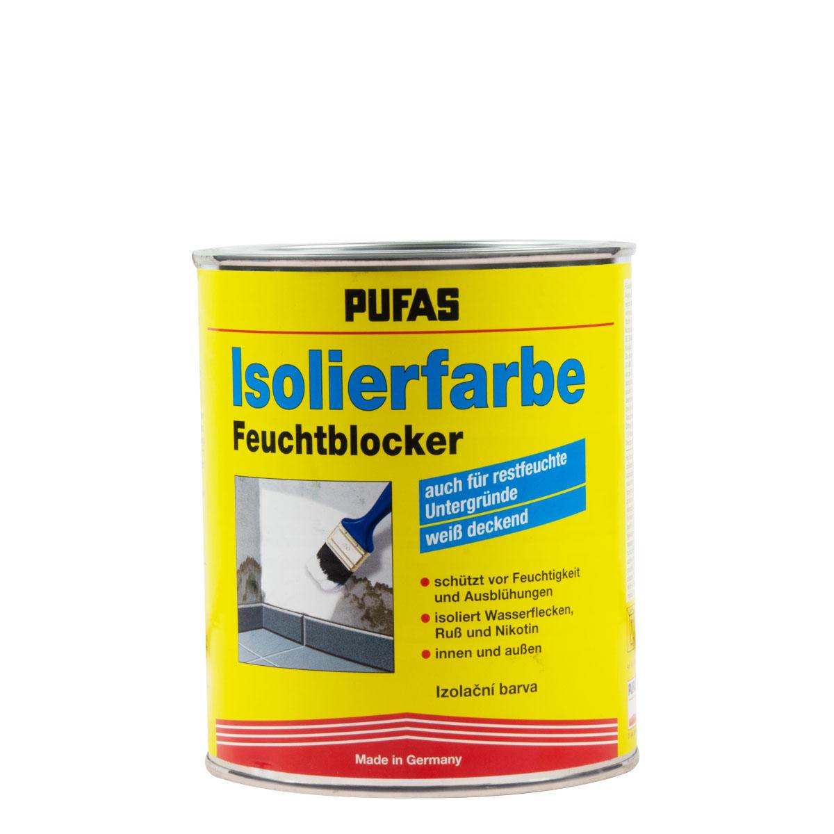 Pufas Isolierfarbe 750ml weiss, Feuchtblocker, aromatenfrei