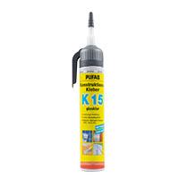 Pufas Konstruktions-Kleber K15 – glasklar 200g Druckkartusche