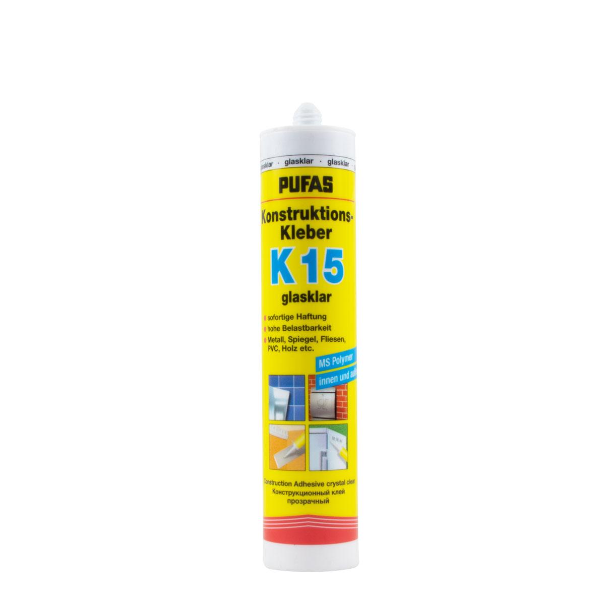 Pufas Konstruktions-Kleber K15 – glasklar