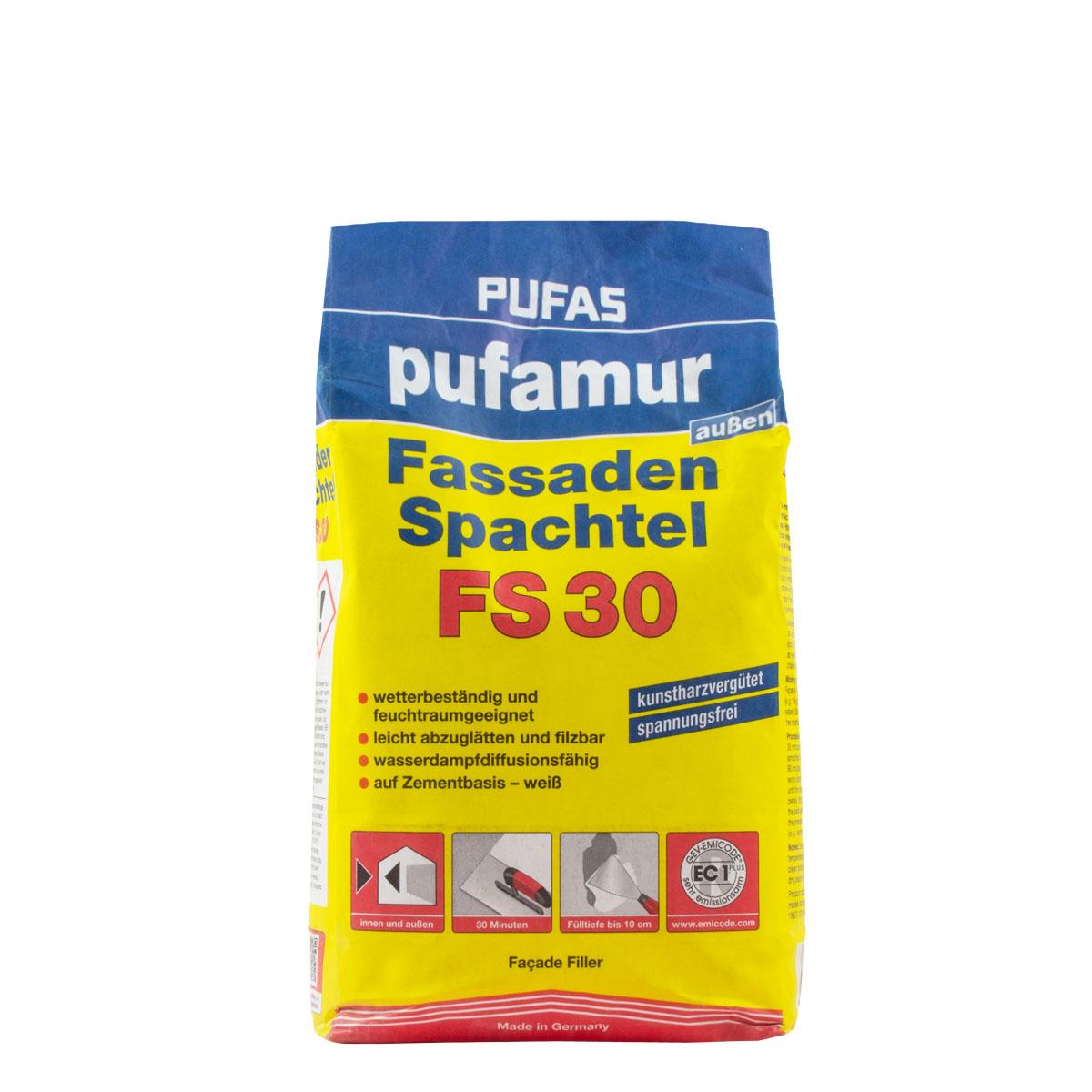 Pufas pufamur Fassadenspachtel FS 30 5kg, kunstharz Zementspachtel