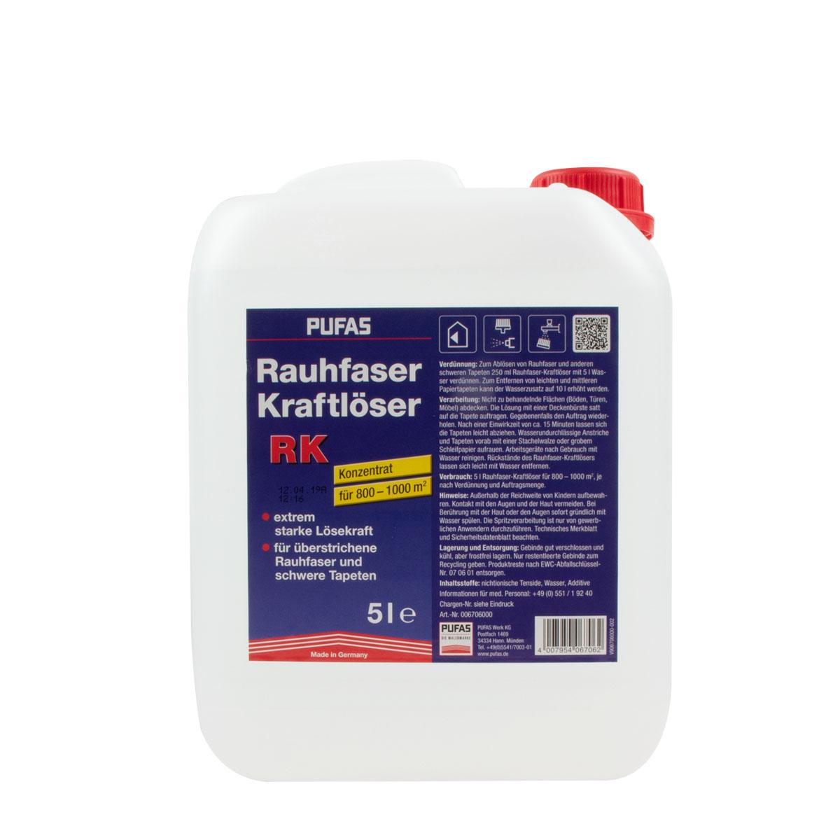 Pufas Rauhfaser-KRAFT-Ablöser 5L, Tapetenlöser