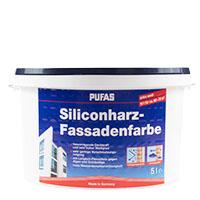 Pufas Siliconharz-Fassadenfarbe 5L weiss ;mit Abperleffekt