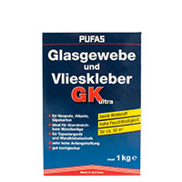 Pufas Glasgewebe und Vlieskleber GK ultra 1kg