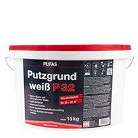 Pufas Putzgrund P32 fein weiß 15KG, Haftvermittler, Spezialgrundierung