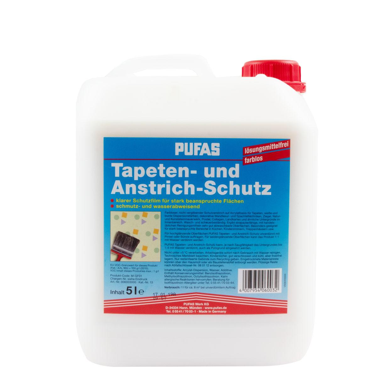 Pufas Tapeten- und Anstrichschutz versch. Größen, farblos, Schutzfilm