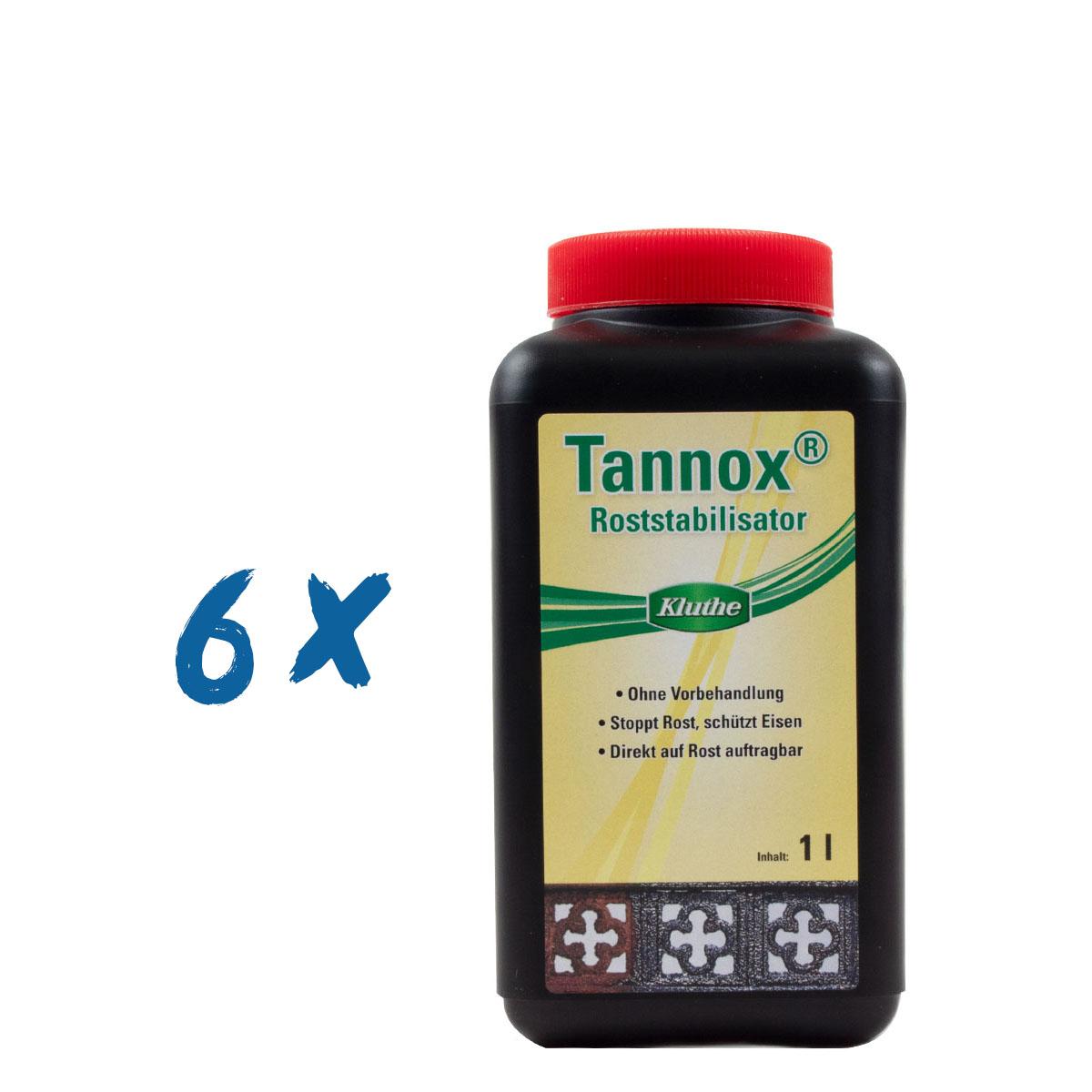6 x Kluthe Tannox 1L Roststabilisator, Rostumwandler