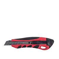 Cuttermesser Duoplast 18mm rot/schwarz mit Sicherheits-Stoptaste