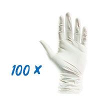 100x Latex-Einweghandschuhe ungepudert versch. Größen
