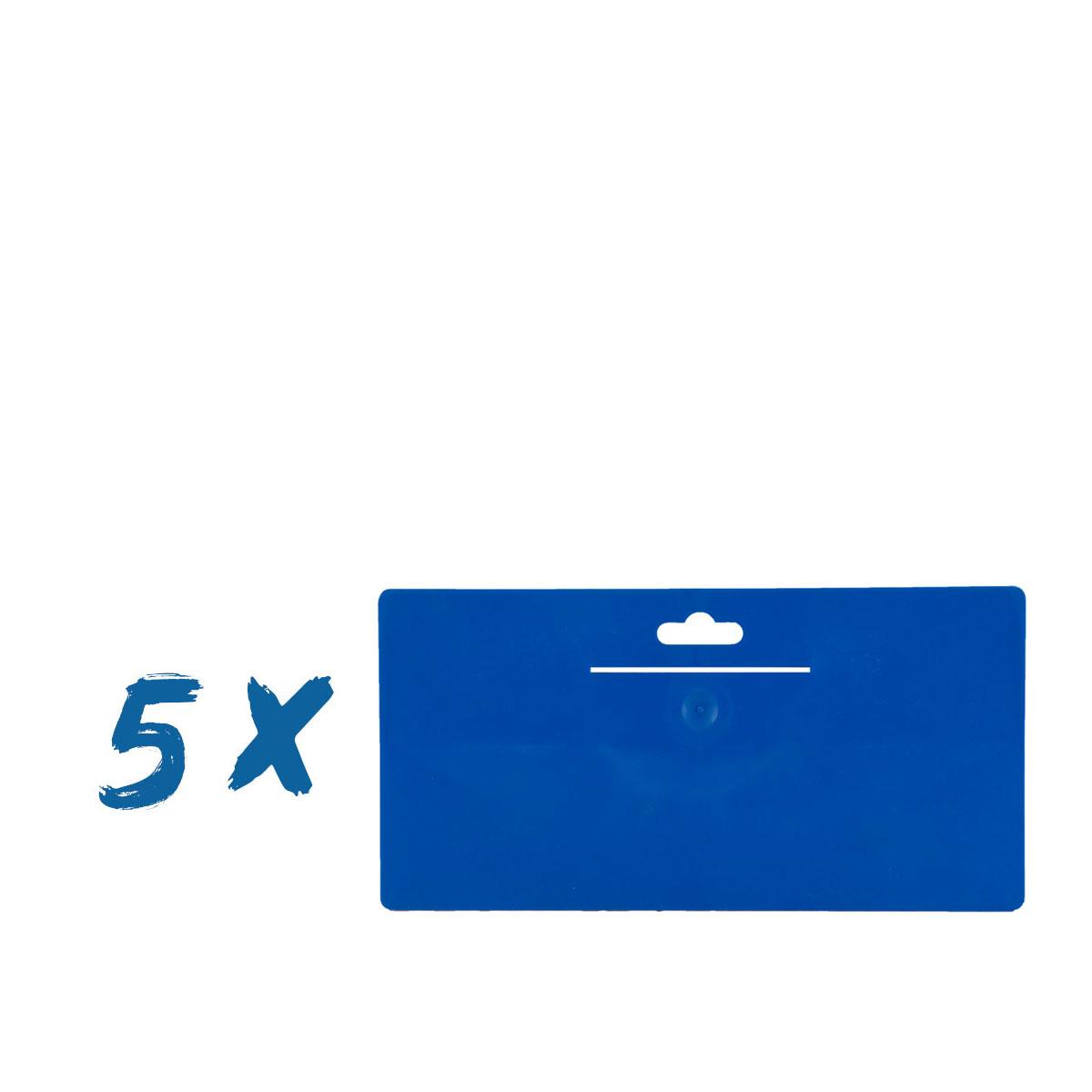 5 x Tapezierspachtel Blau 240x120 mm, Tapeten-Andrückspachtel