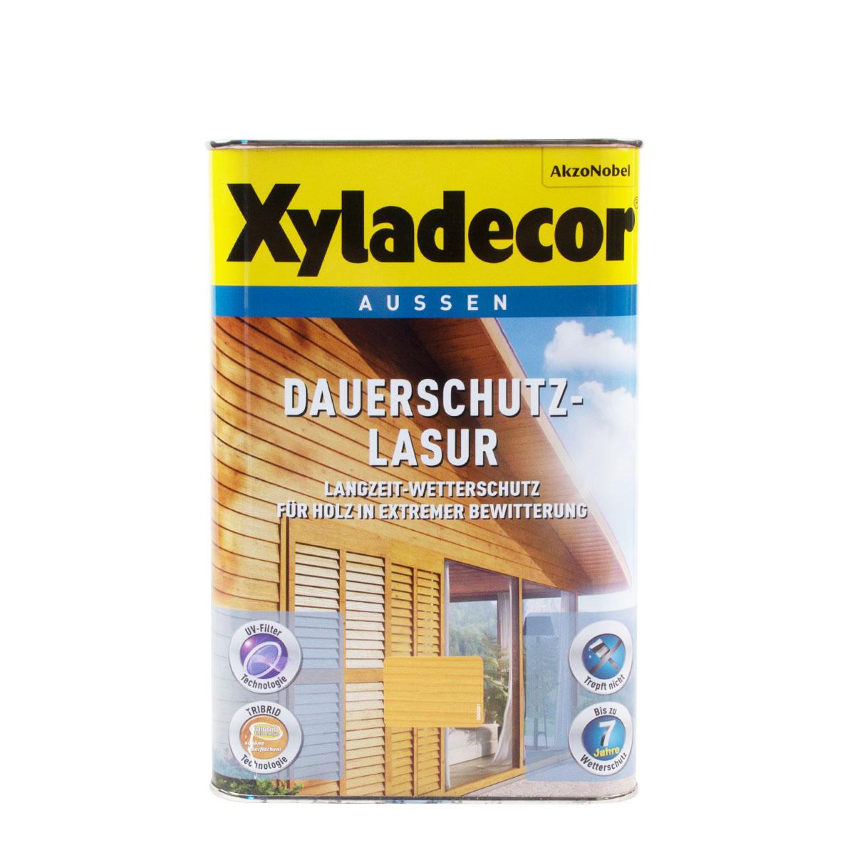 Xyladecor Dauerschutz-Lasur 4L versch. Farbtöne, Holzschutzlasur
