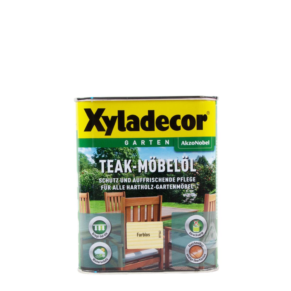 Xyladecor Teak-Möbelöl Farblos 750ml ,Hartholzmöbel-öl