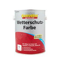 Consolan Profi Wetterschutz-Farbe 2,5L weiss