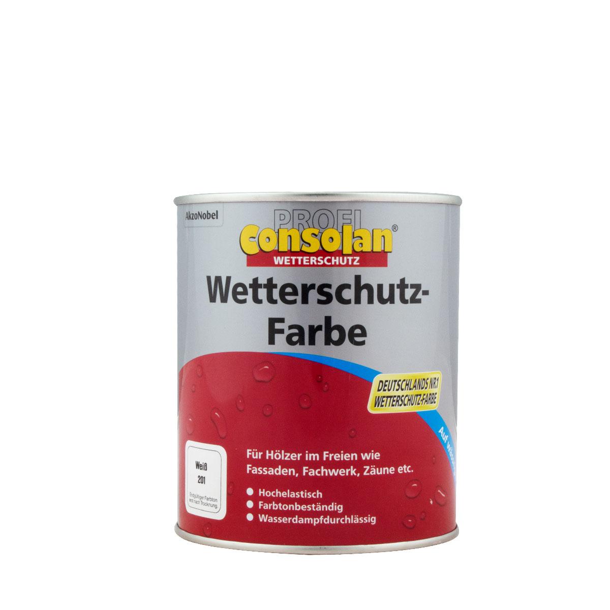 Consolan Profi Wetterschutz-Farbe 750ml versch. Farben