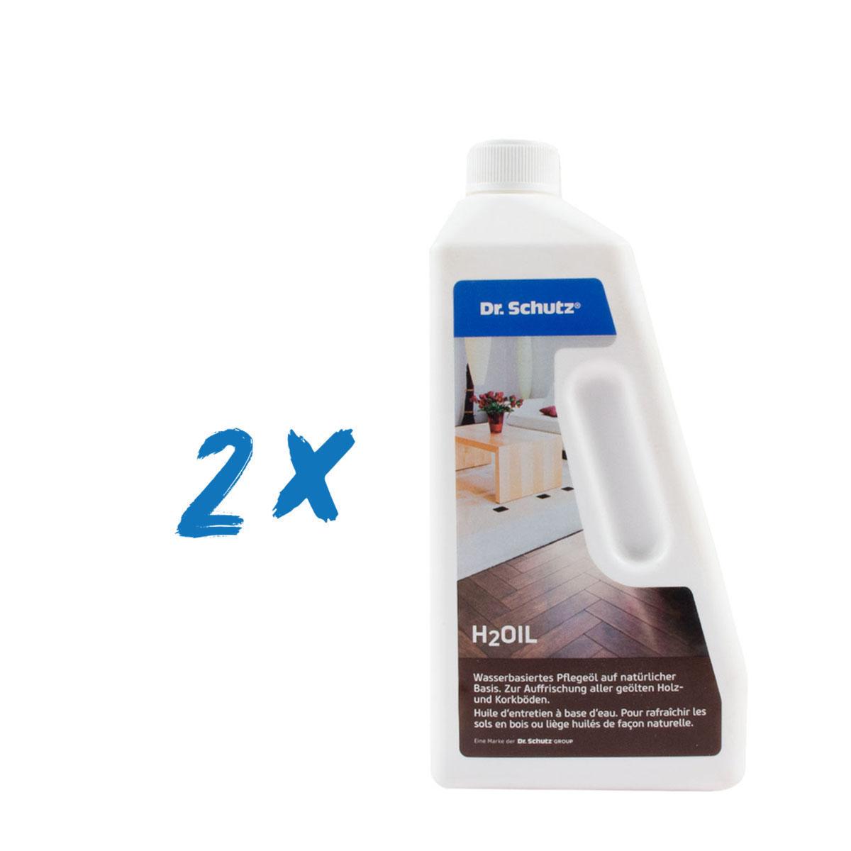 2x Dr. Schutz H2Oil 750ml, farblos, Wasserbassiertes Pflegeöl
