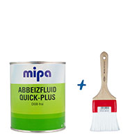 Mipa Abbeizfluid Quick-Plus 750ml+ Wistoba Abbeizerpinsel 70mm